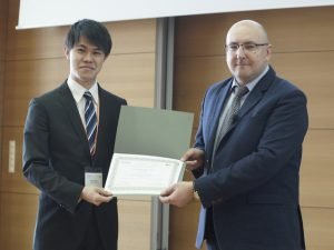 M2和久井晟冴君,IEEE International Conference on Mechatronics 2019にてBest Student Paper Award First Placeを受賞